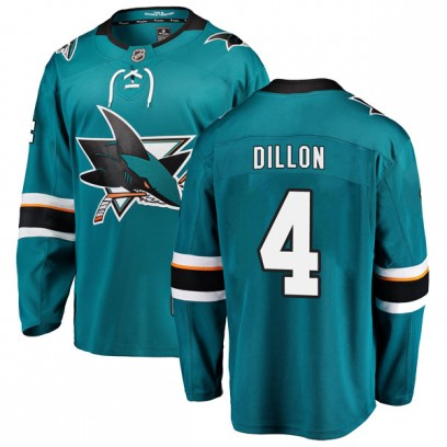 Youth Breakaway San Jose Sharks Brenden Dillon Fanatics Branded Home Jersey - Teal